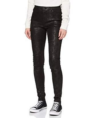 Vero Moda Women's Jeans Marie, Bootcut, Komfortbund, 5-pocket Trouser, (Black Print: Snake Coating), (Size: X-Large)