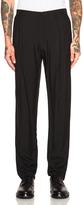 Lanvin Pleat Pocket Wool Viscose Trousers