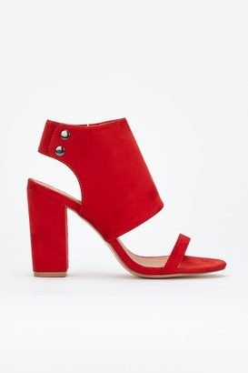Wallis **Rust Block Heel Sandal