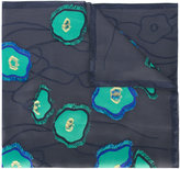 Giorgio Armani jacquard applique scarf - women - Silk/Polyester/Acetate/Viscose - One Size