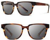 Shwood Men's 'Prescott' 52Mm Acetate & Wood Sunglasses - Emerald/ Elm Burl/ Grey