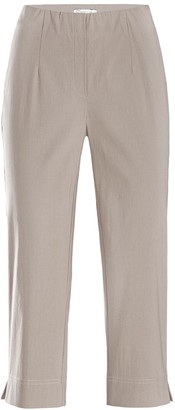 Stehmann Ina-530Relaxed Stretch Fitted Capri Trousers - beige - 12
