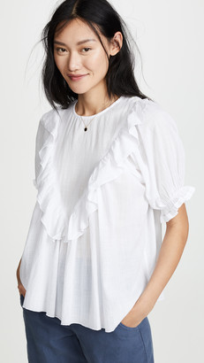 The Great The Ruffle Triangle Top