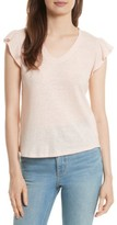 Rebecca Taylor Women's Ruffle Sleeve Washed Jersey Top