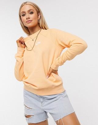 Nike Essentials Crew Neck Sweatshirt in orange