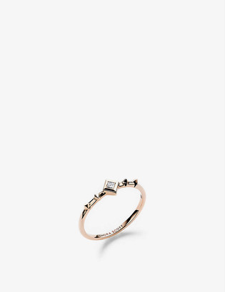 Kendra Scott Wave 14ct yellow-gold and diamond ring