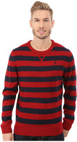 U.S. Polo Assn. Striped Crew Neck Sweater