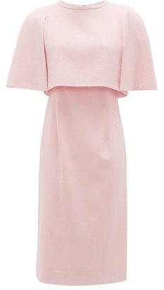 Goat Cape-bodice Wool-crepe Dress - Womens - Light Pink