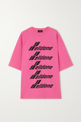 we11done Oversized Printed Cotton-jersey T-shirt - Pink
