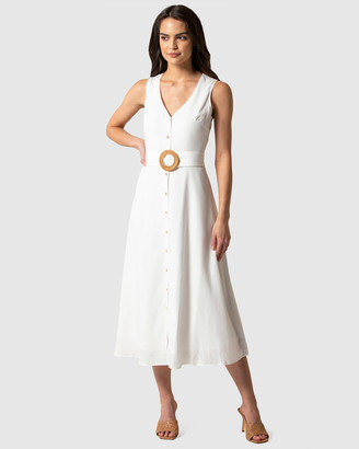 Forever New Mina A-line Belted Midi Dress