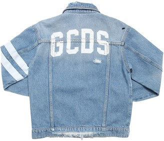 GCDS Distressed Cotton Denim Jacket