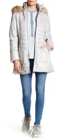 GUESS Faux Fur Hooded Coat