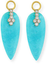 Jude Frances Provence Turquoise & Diamond Earring Charms