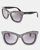 Jimmy Choo Flash Oversized Cat Eye Wayfarer Sunglasses
