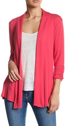 Bobeau Shawl Collar 3/4 Sleeve Cardigan