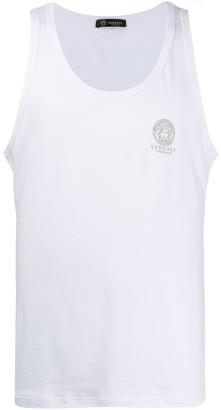 Versace Logo Print Tank Top