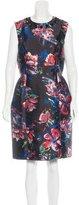 Sachin + Babi Noir Embellished Floral Print Dress
