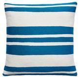 Judy Ross Textiles Cabana Tropical Blue/Cream Pillow