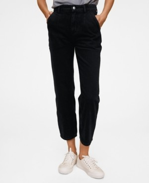 MANGO Cropped Darts Jeans