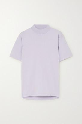 LES TIEN Cotton-jersey T-shirt - Purple