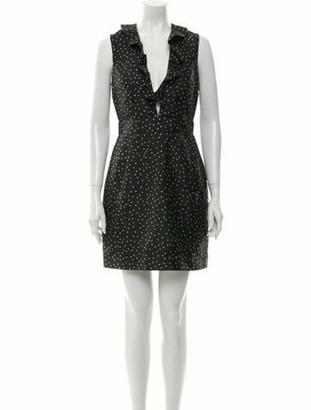 Baum und Pferdgarten Polka Dot Print Mini Dress w/ Tags Grey
