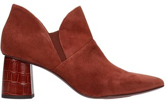 Chie Mihara Luvan Ankle Boots In Brown Suede