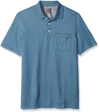 Van Heusen Men's Size Big and Tall Flex Short Sleeve Stretch Solid Polo Shirt