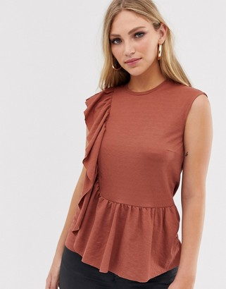 Y.A.S frill detail top