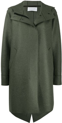 Harris Wharf London Concealed Front Parka