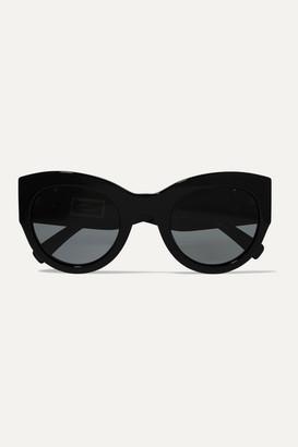 Versace Cat-eye Crystal-embellished Acetate Sunglasses - Black