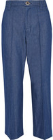 Marc Jacobs Bowie Cropped Denim Straight-leg Pants - Blue