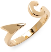 Miansai Women's Hook Ring, Gold Plated, Polished, 8