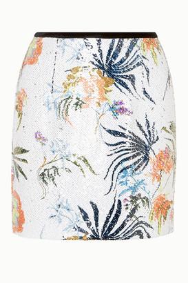 Blouse Tender Fury Velvet-trimmed Sequined Chiffon Mini Skirt