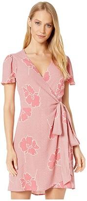 Show Me Your Mumu Grace Wrap Dress (Lovely Floral Crepe) Women's Dress