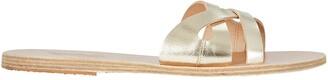 Ancient Greek Sandals Apiron Metallic Leather Sandals