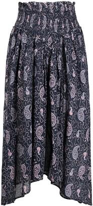 Etoile Isabel Marant Abilia asymmetric paisley-print midi skirt