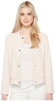 Vince Camuto Snap Front Blistered Texture Bomber Jacket Women's Coat