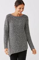 J. Jill Pure Jill Angled-Hem Sweater