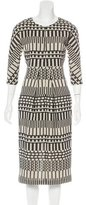 Zero Maria Cornejo Patterned Sheath Dress