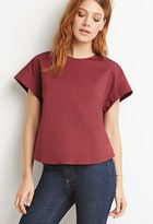Forever 21 FOREVER 21+ Contemporary Boxy Side-Buttoned Top