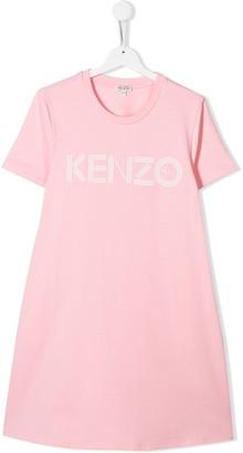 Kenzo TEEN logo print T-shirt dress