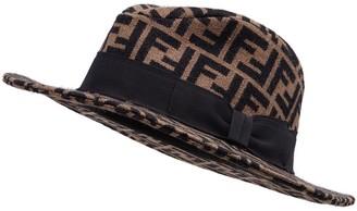 Fendi FF motif fedora hat