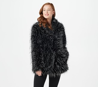 Dennis Basso Madison Avenue Tipped Fox Faux Fur Jacket