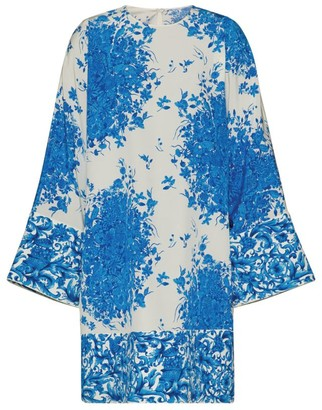 Valentino Bluegrace Bouquet Mini Dress