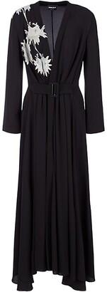 Giorgio Armani Embellished Half-&-Half Belted Gown