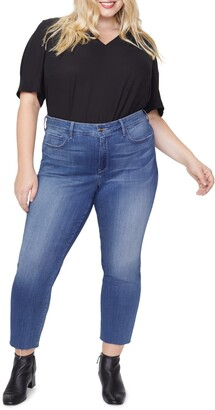 NYDJ Marilyn Raw Hem Ankle Straight Leg Jeans