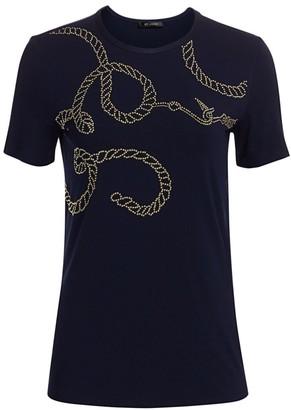 St. John Studded Rope Print Jersey T-Shirt
