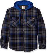 Dickies Men's Relaxed Fit Hooded Flannel Overshirt