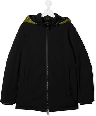Herno TEEN detachable hooded coat