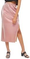 Topshop Women's Plisse Pleated Midi Skirt